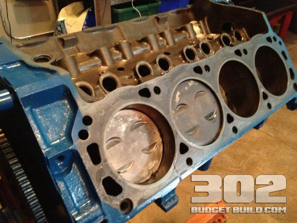 This is the short block after all parts and heads were removed.