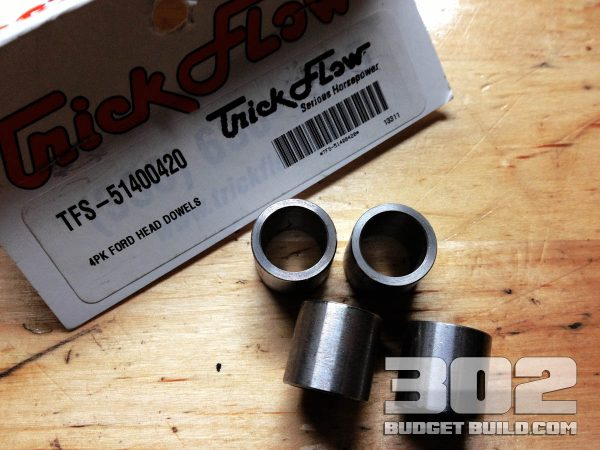 I am using Trick Flow's small block ford cylinder head dowels. TFS-51400420