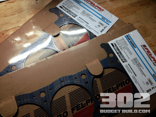 I am using Felpro Perma Torque Head Gaskets for this build: 9333 PT1