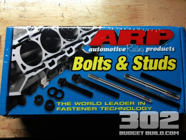 I am using ARP's new head bolt kit. Make sure you use new head bolts and follow the directions. Torque to 70 ft. lbs.