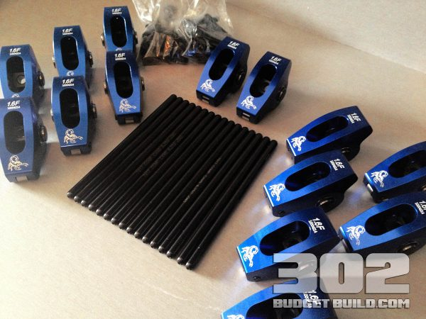 This is the roller rockers and pushrods ready to be installed.