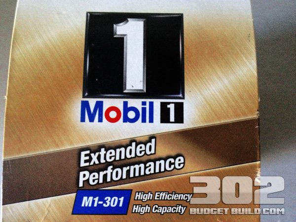 The Mobil 1 oil filter part number: MI-301 that fits the small block ford 302