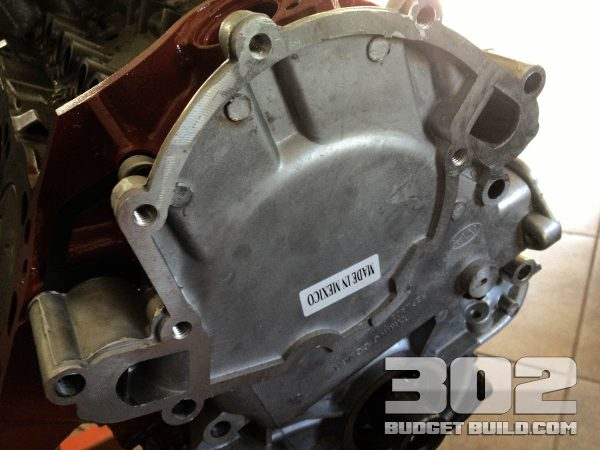 Timing cover shown mocked up onto the engine block